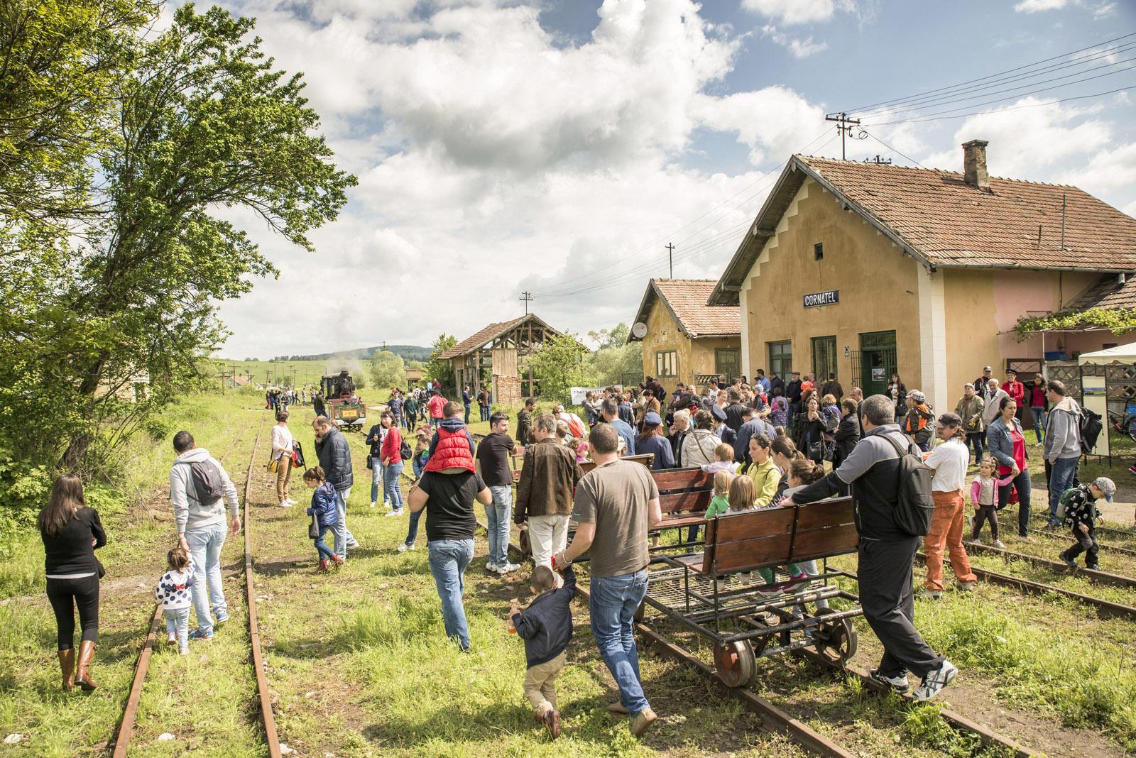 Schmalspurbahn auf der Harbachtalbahn in Rumänien (Zilele Mocăniței)