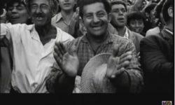 Salvador Allende auf Bahnreise in Chile