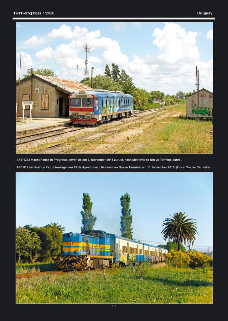 Eisenbahn in Uruguay