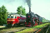 Auf Dampflok-Exkursion durch die Ukraine