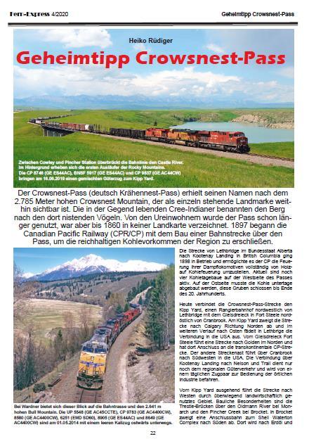 Crows Nest: Bericht in FernExpress Heft_4-2020