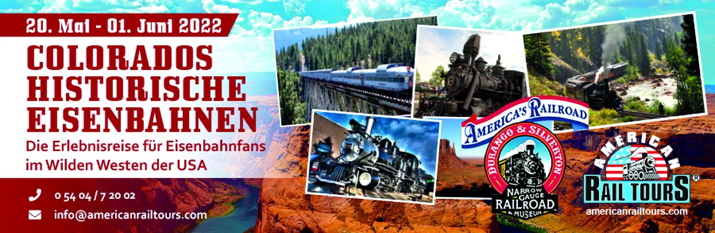 Erlebnisreise: historische Eisenbahnen in Colorado (USA)